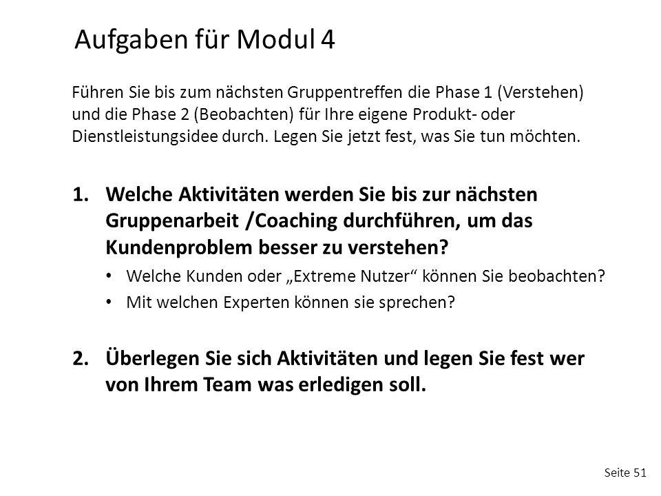 Aufgaben für Modul 4