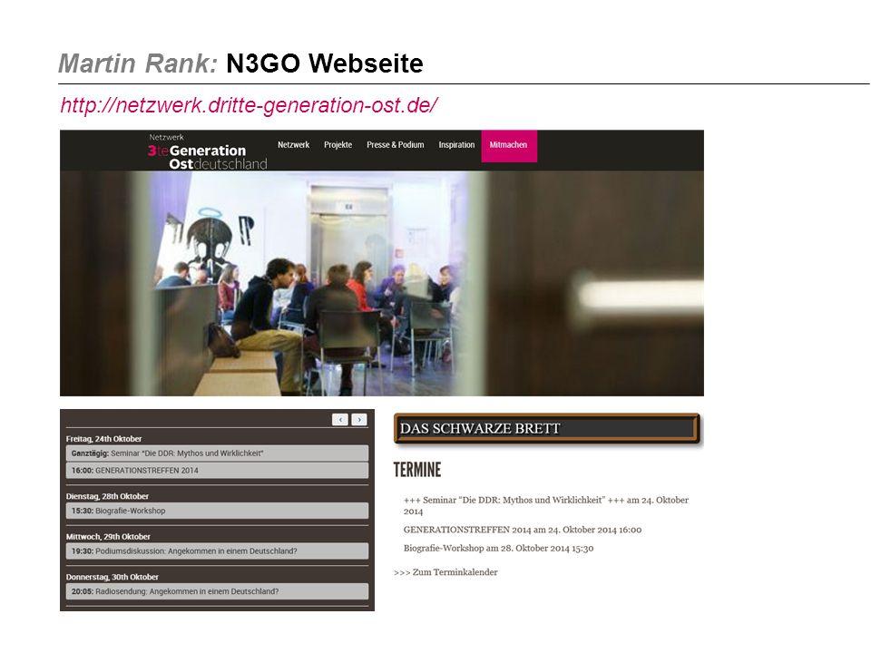Martin Rank: N3GO Webseite