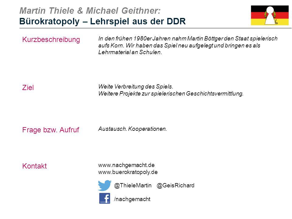 Martin Thiele & Michael Geithner: Bürokratopoly – Lehrspiel aus der DDR
