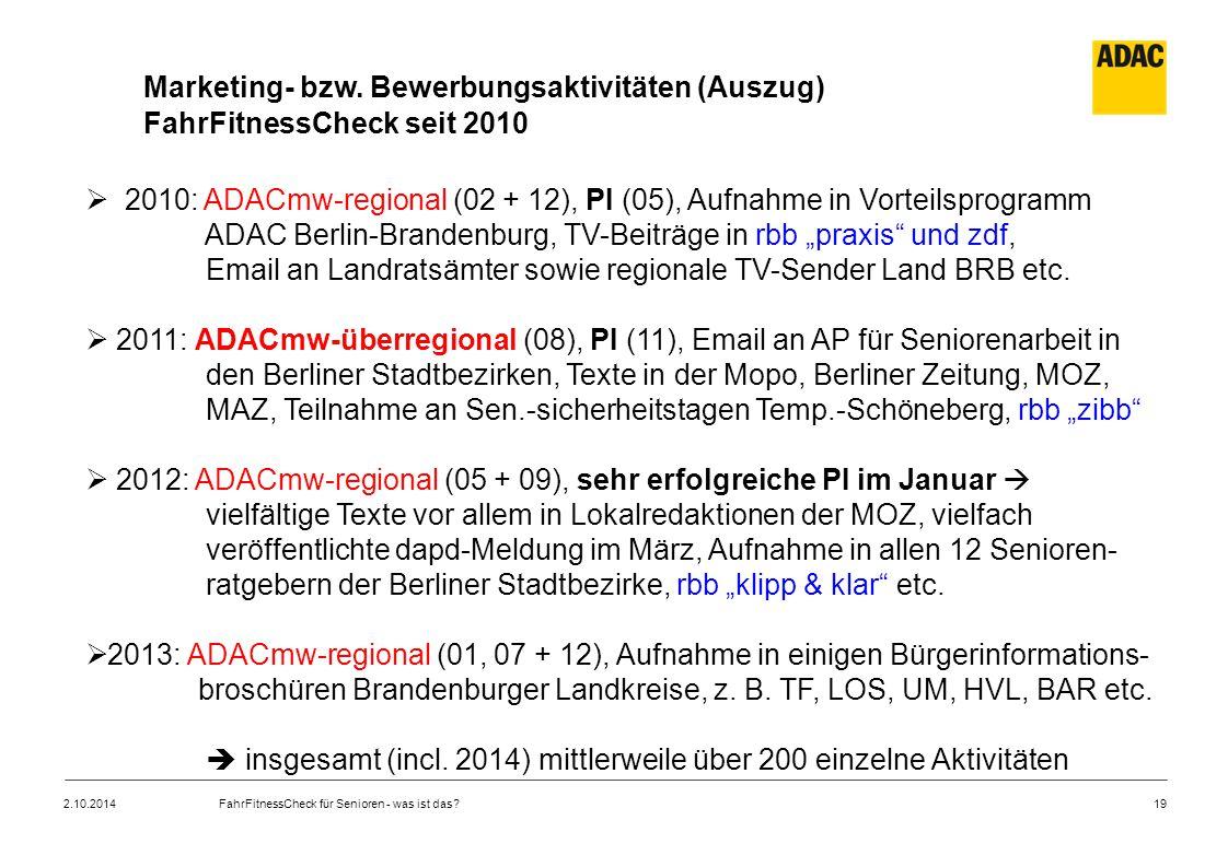 """ADAC Berlin-Brandenburg, TV-Beiträge in rbb """"praxis und zdf,"""