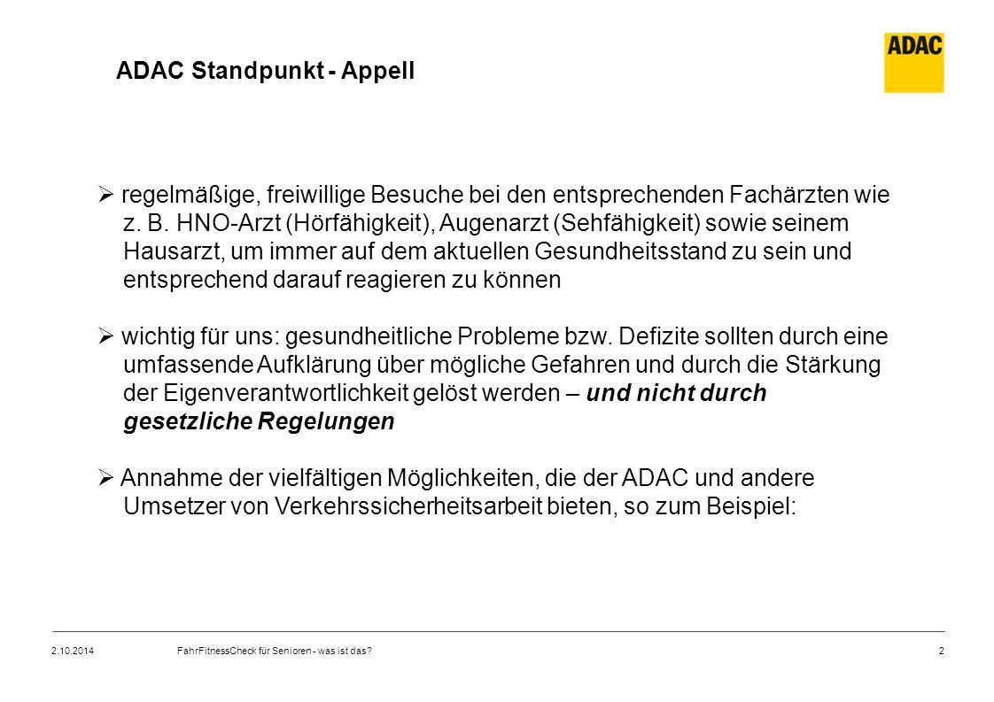 ADAC Standpunkt - Appell