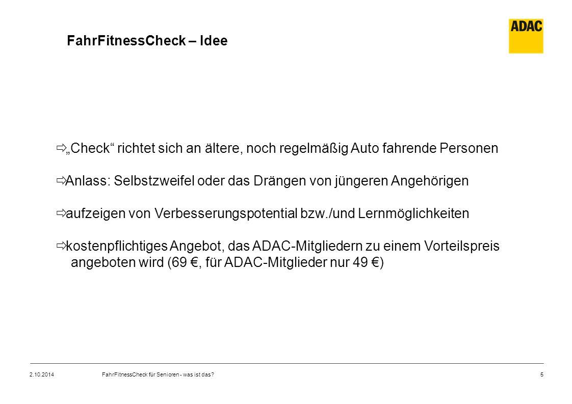 FahrFitnessCheck – Idee