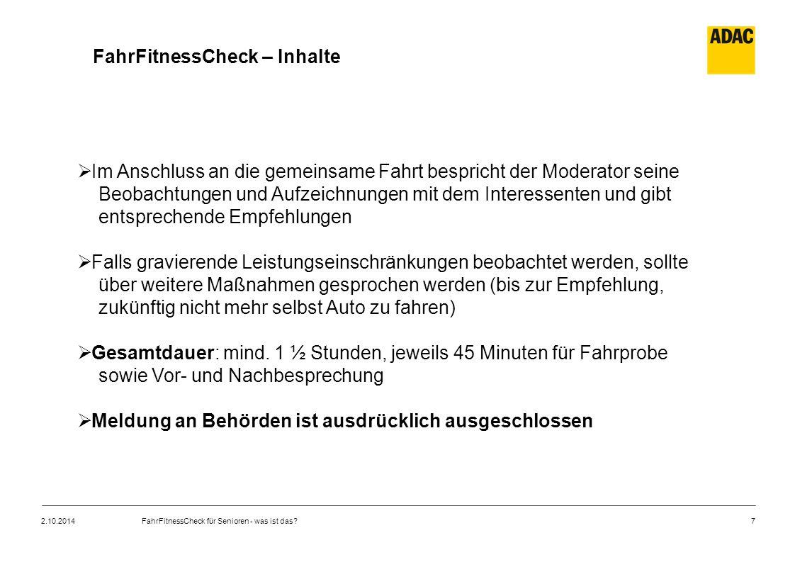 FahrFitnessCheck – Inhalte