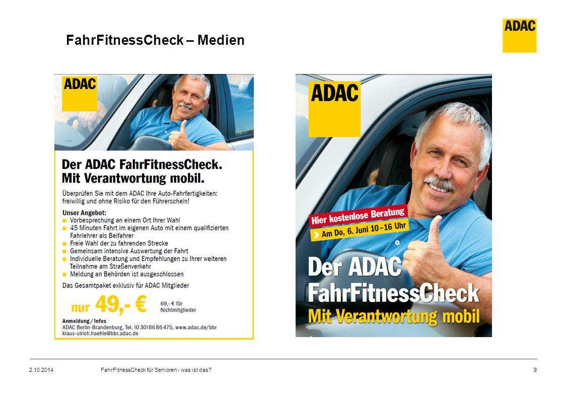 FahrFitnessCheck – Medien