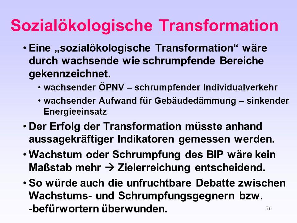 Sozialökologische Transformation