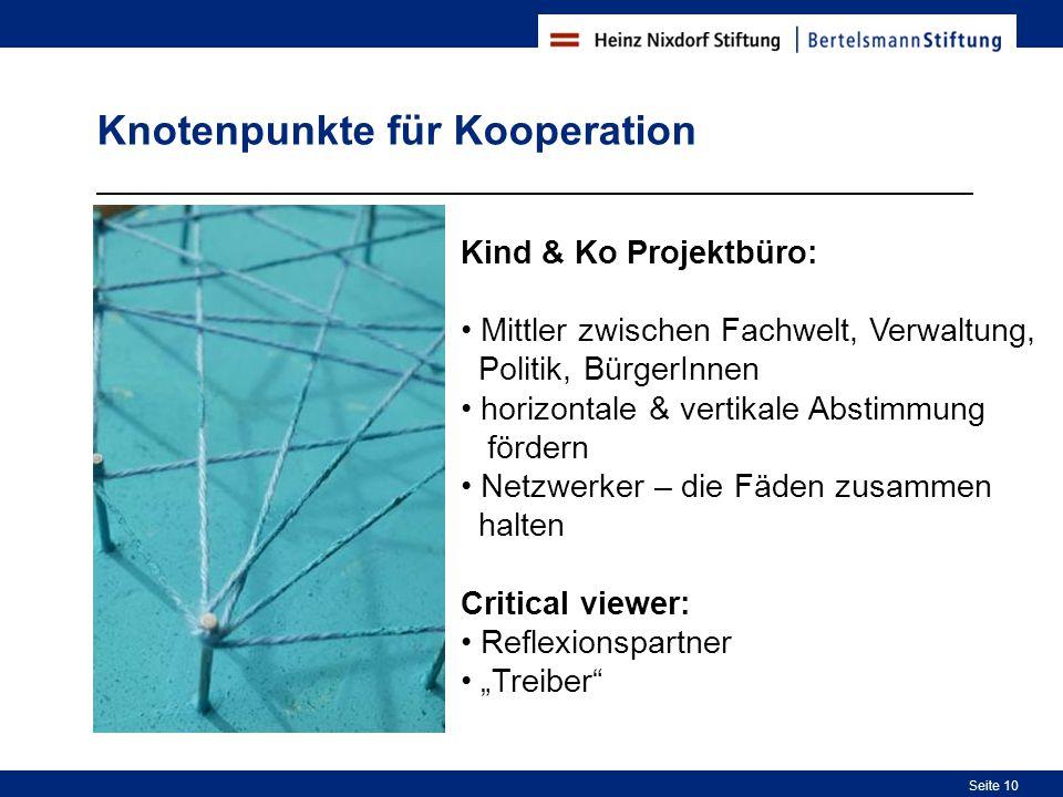 Knotenpunkte für Kooperation