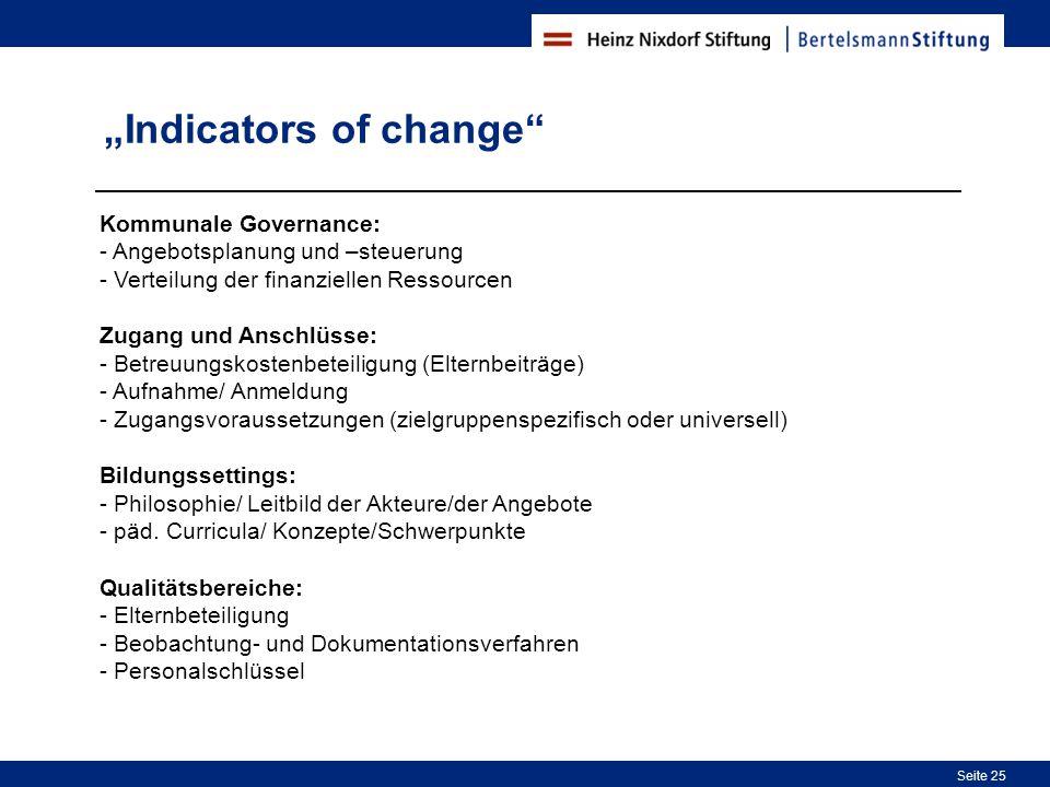 """Indicators of change"