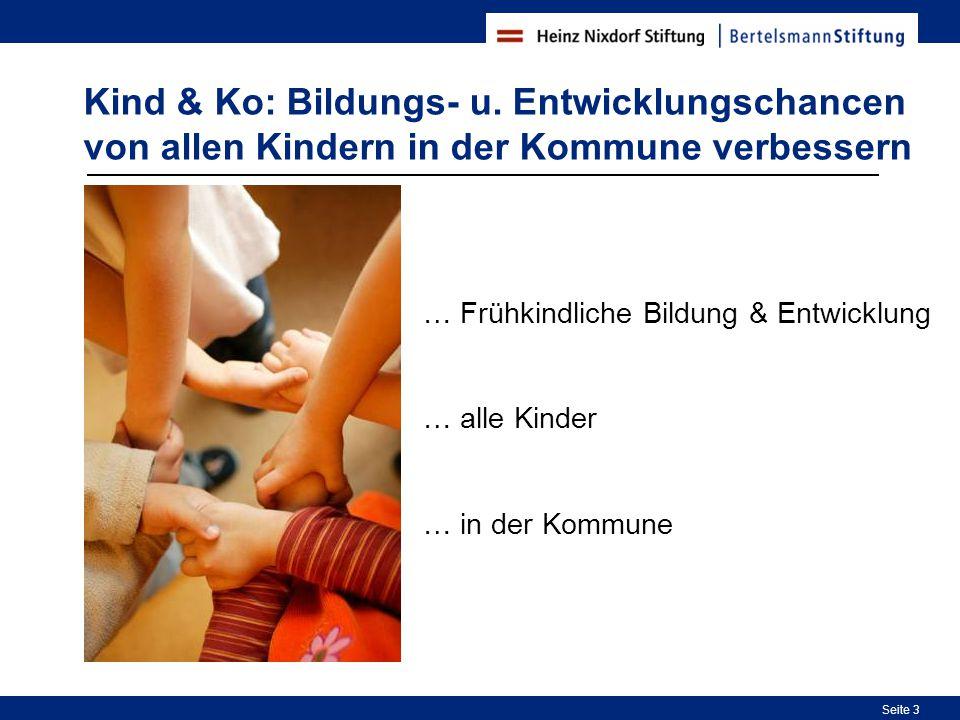 Kind & Ko: Bildungs- u. Entwicklungschancen von allen Kindern in der Kommune verbessern