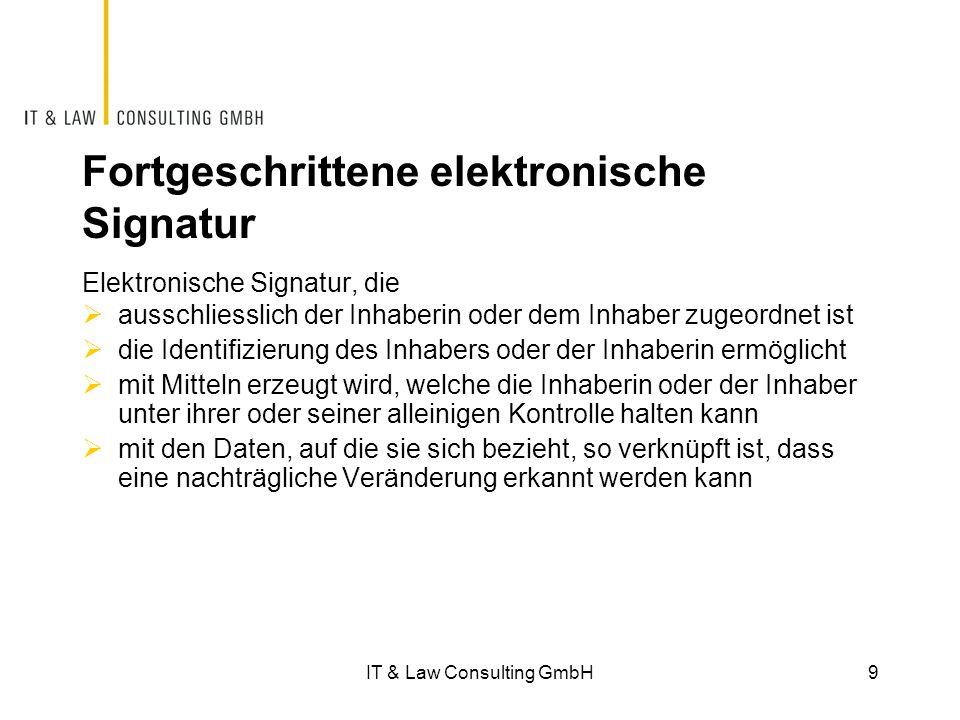 Fortgeschrittene elektronische Signatur