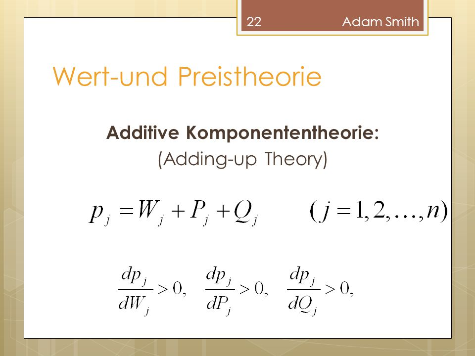 Wert-und Preistheorie