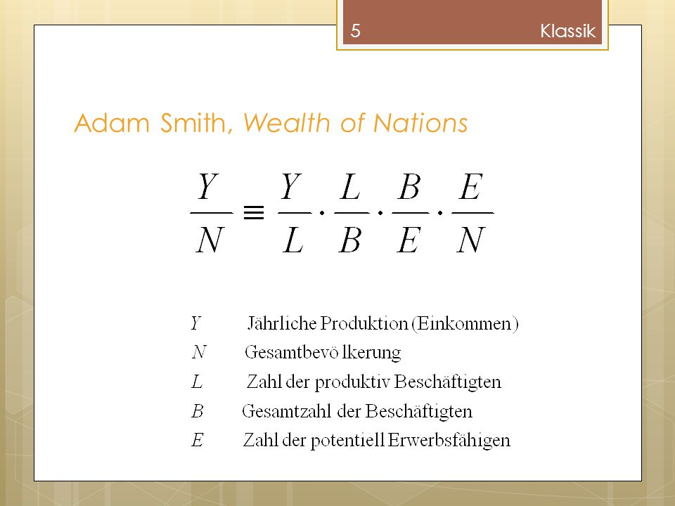 Adam Smith, Wealth of Nations