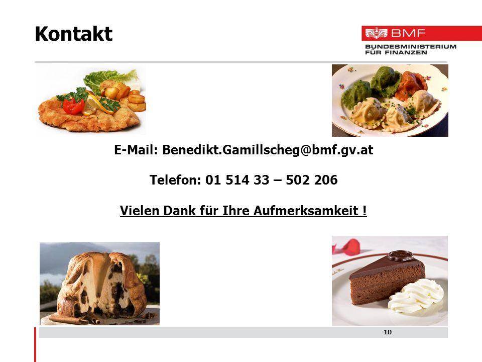 Kontakt E-Mail: Benedikt.Gamillscheg@bmf.gv.at
