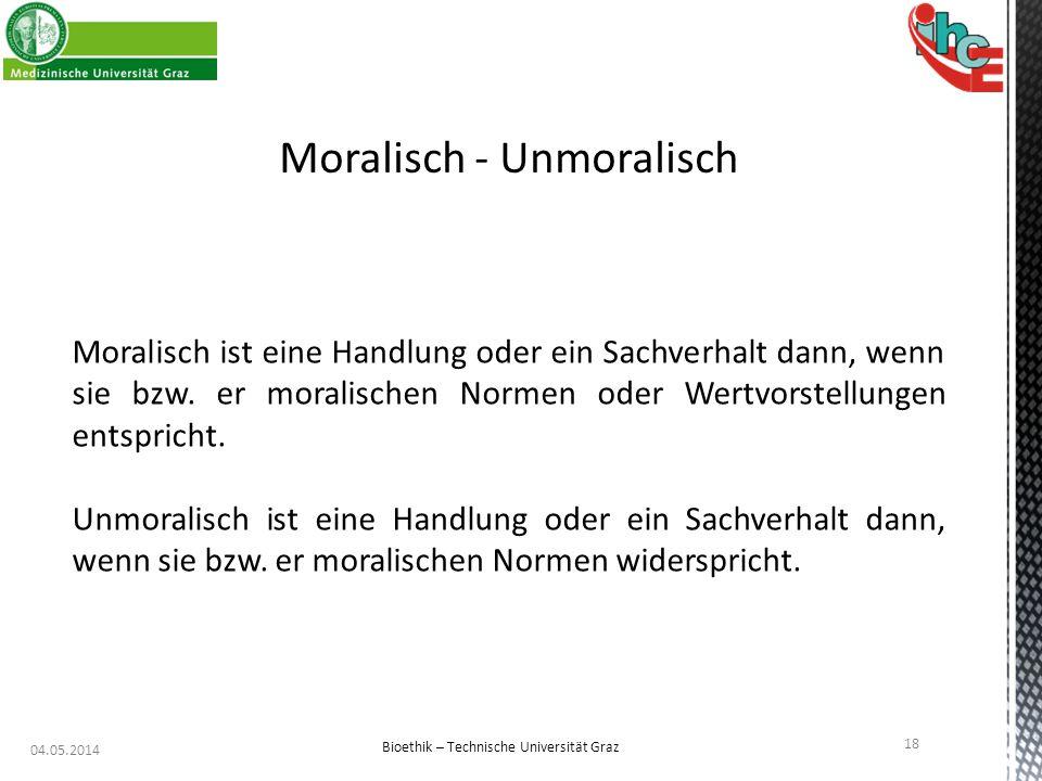 Moralisch - Unmoralisch