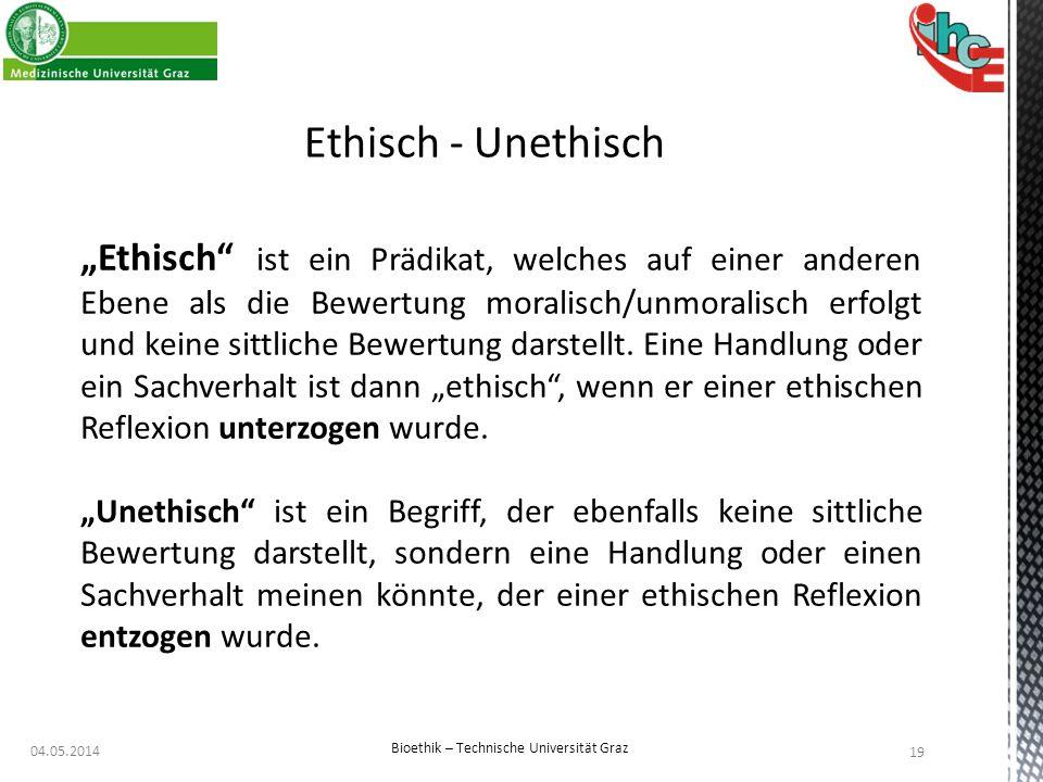 Bioethik – Technische Universität Graz