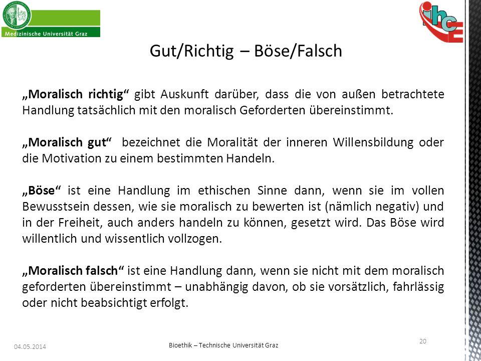 Gut/Richtig – Böse/Falsch