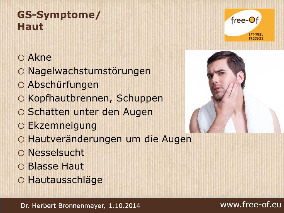 GS-Symptome/ Haut Akne Nagelwachstumstörungen Abschürfungen