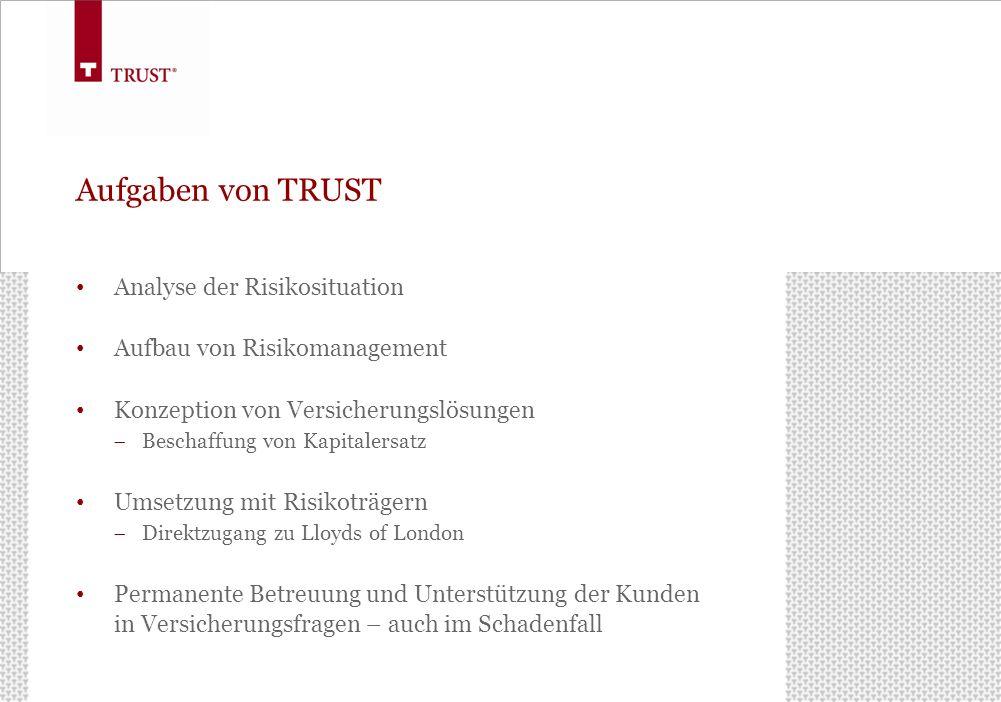 Aufgaben von TRUST Analyse der Risikosituation