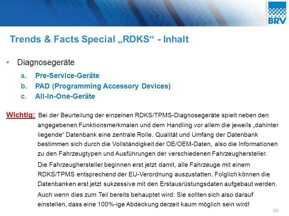 "Trends & Facts Special ""RDKS - Inhalt"