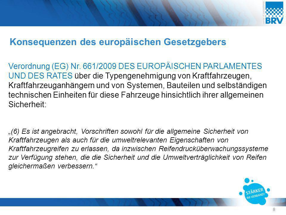 Konsequenzen des europäischen Gesetzgebers