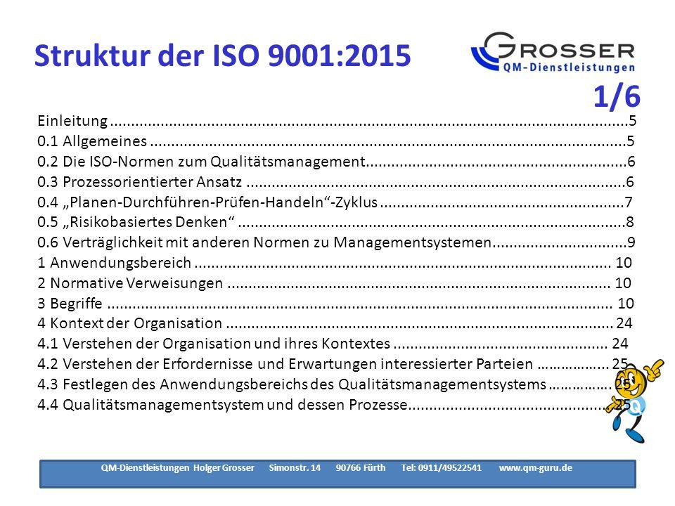 Struktur der ISO 9001:2015 2/6.