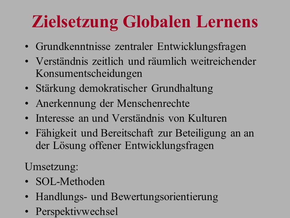 Zielsetzung Globalen Lernens