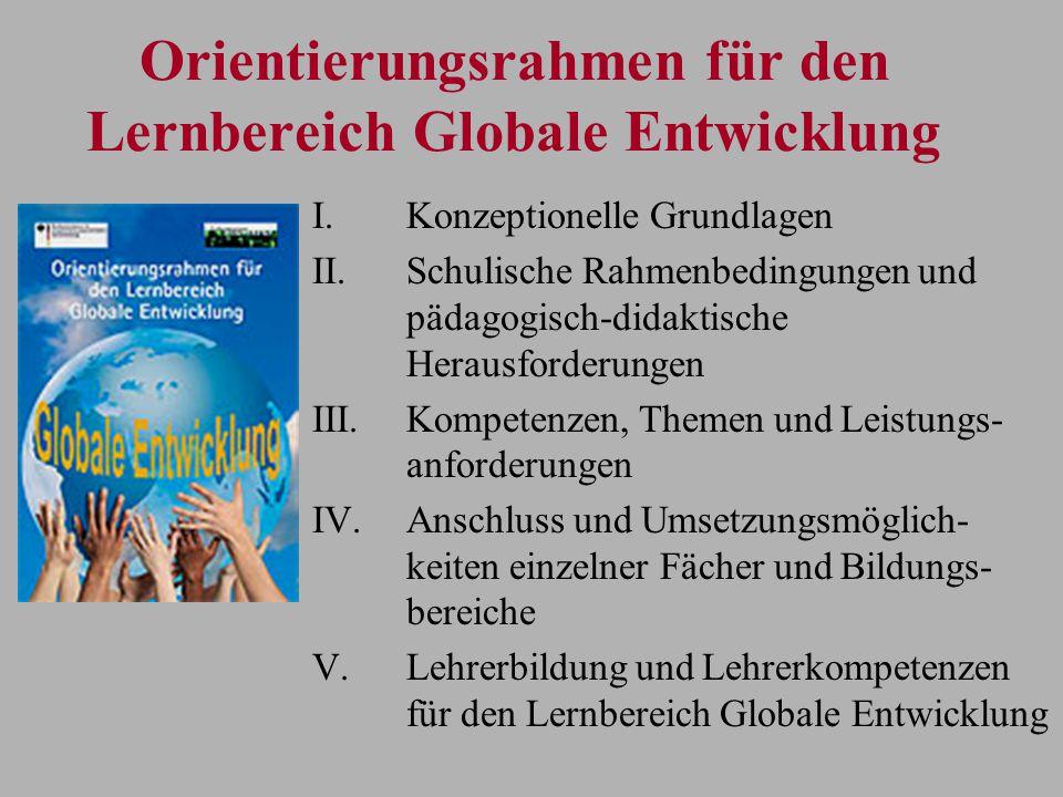 Orientierungsrahmen für den Lernbereich Globale Entwicklung