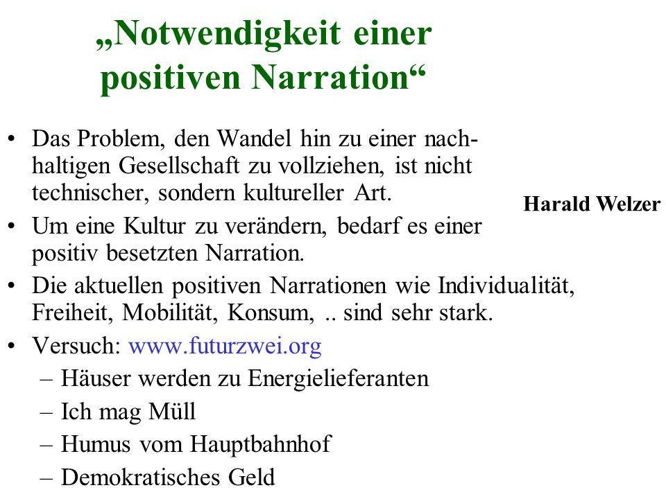 """""""Notwendigkeit einer positiven Narration"""