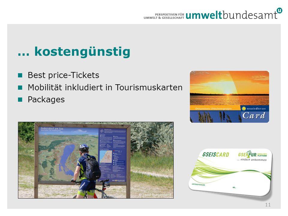 … kostengünstig Best price-Tickets
