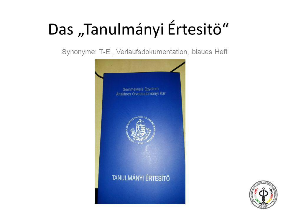 "Das ""Tanulmányi Értesitö"
