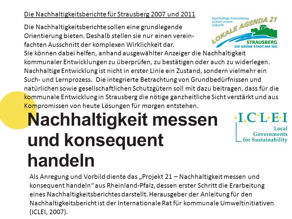 Die Nachhaltigkeitsberichte für Strausberg 2007 und 2011