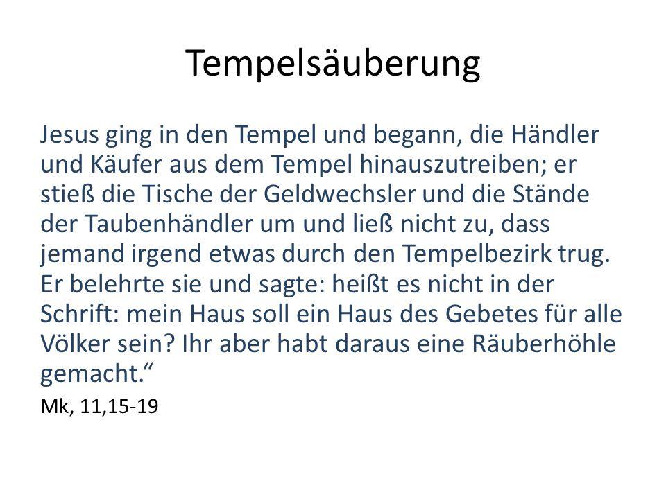Tempelsäuberung