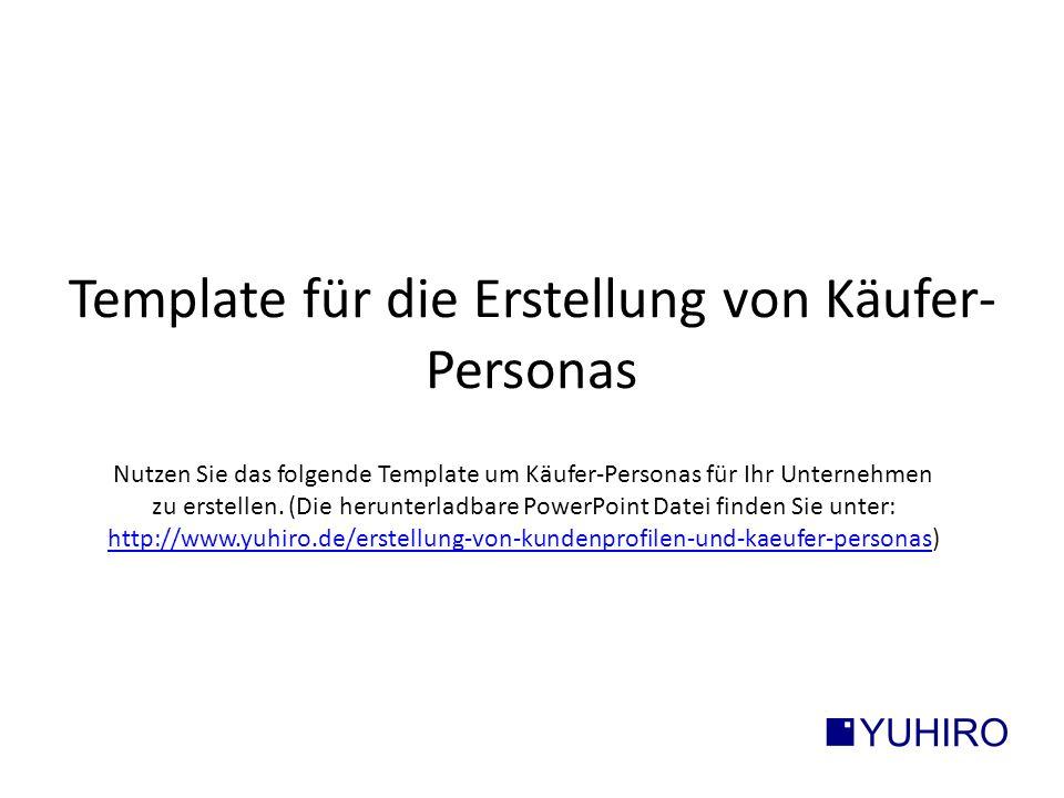 Template für die Erstellung von Käufer-Personas