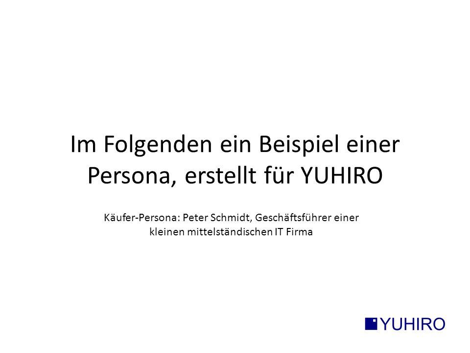 Im Folgenden ein Beispiel einer Persona, erstellt für YUHIRO