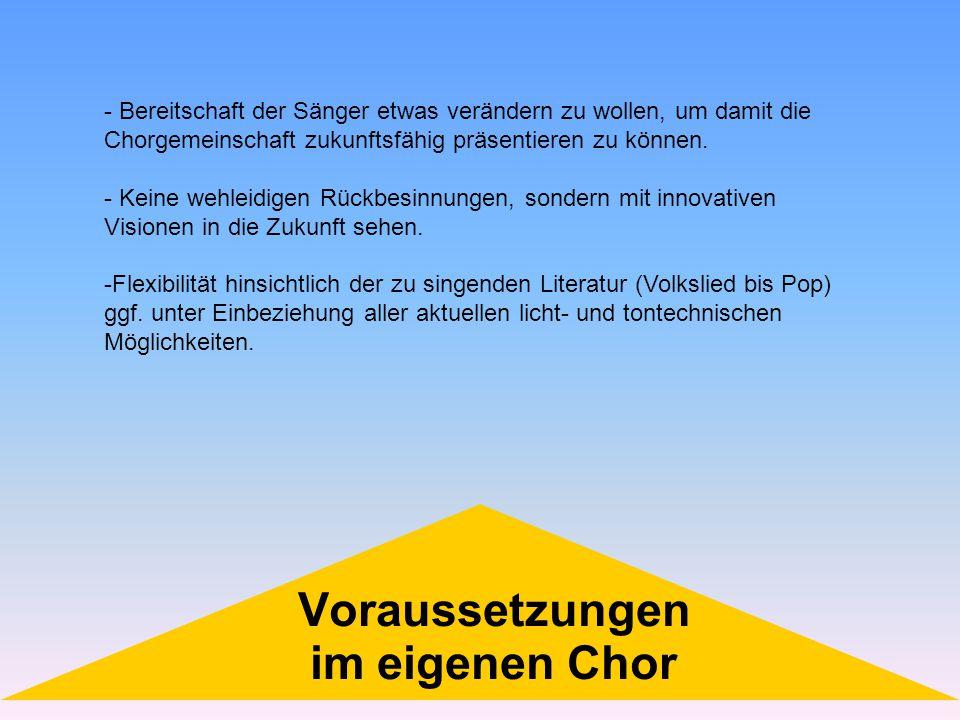 Voraussetzungen im eigenen Chor