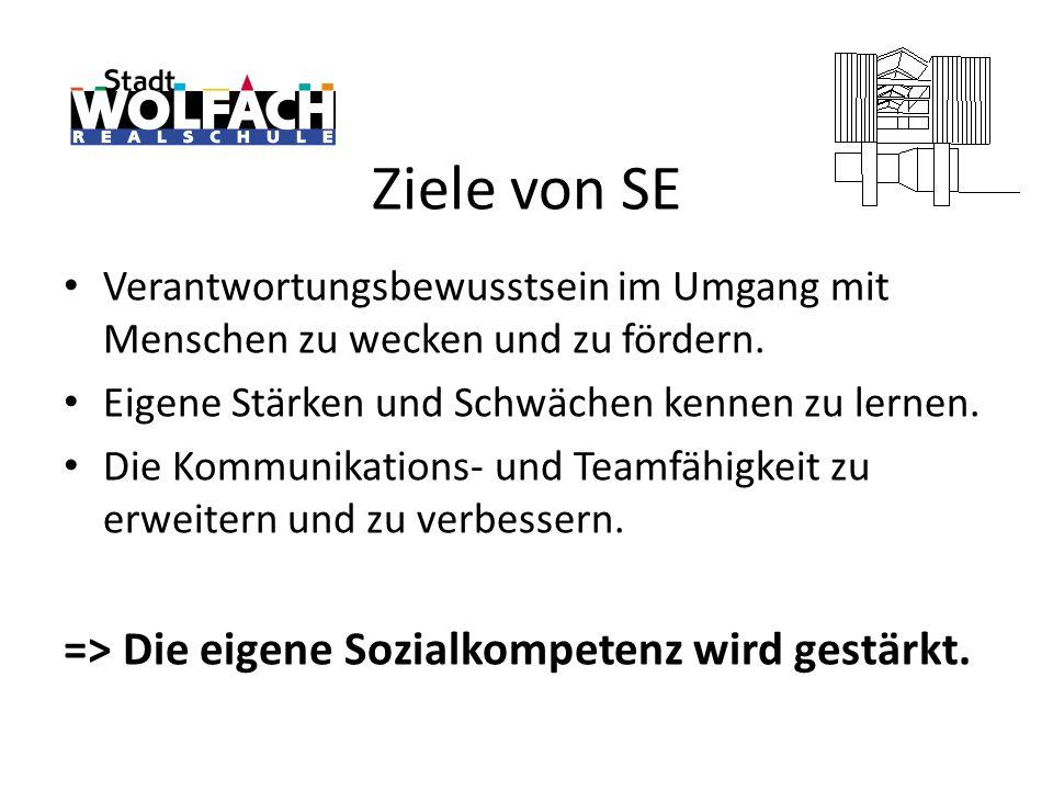 Ziele von SE => Die eigene Sozialkompetenz wird gestärkt.