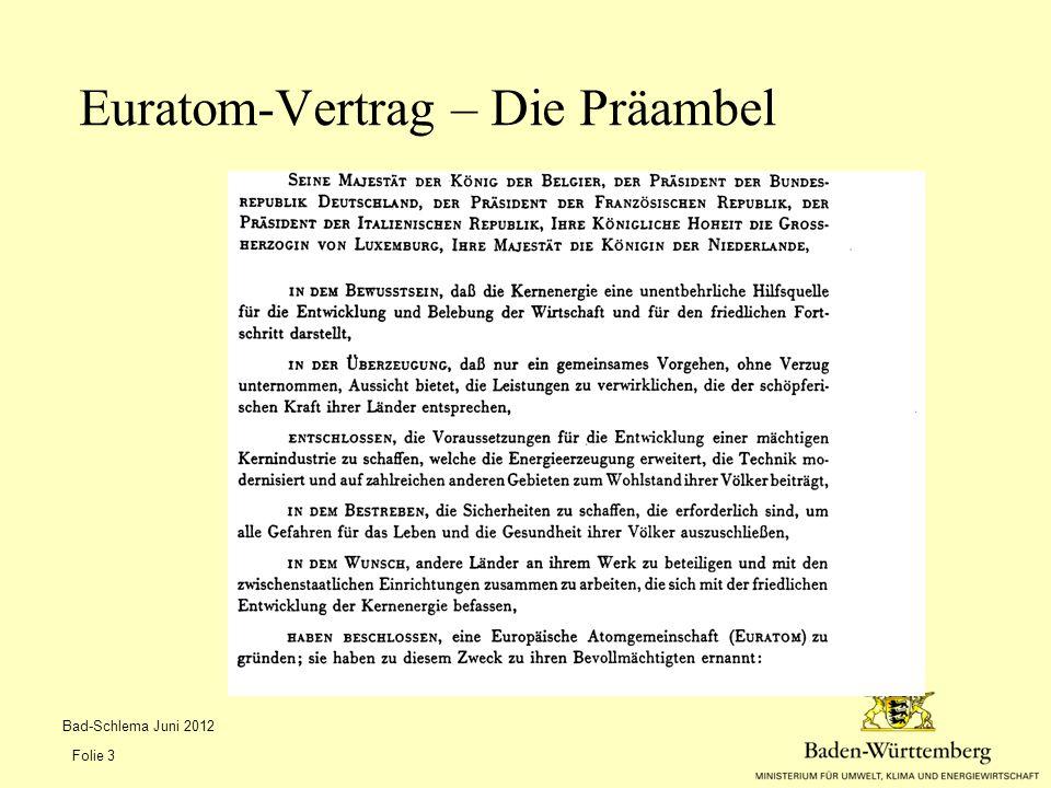 Euratom-Vertrag – Die Präambel