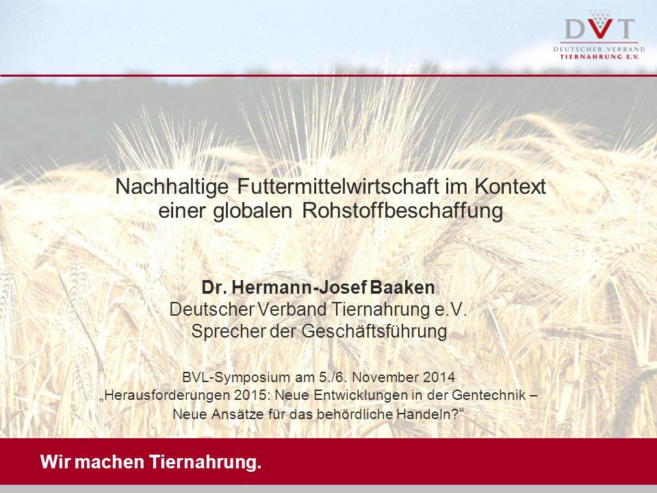 Nachhaltige Futtermittelwirtschaft im Kontext einer globalen Rohstoffbeschaffung