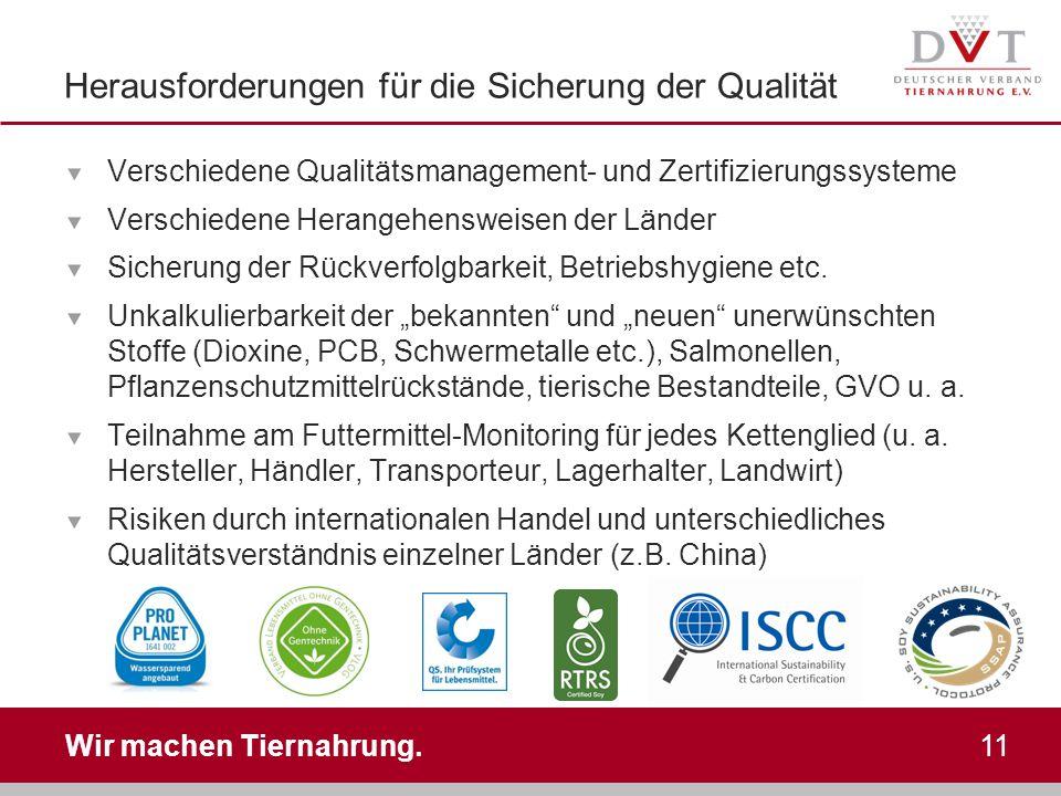 Herausforderungen für die Sicherung der Qualität