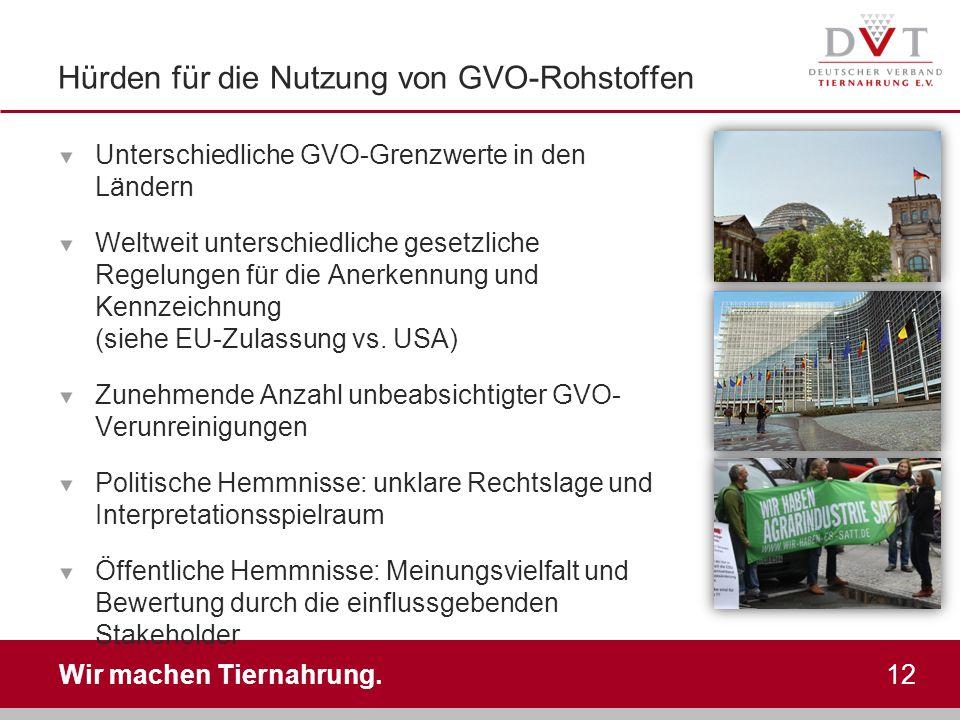 Hürden für die Nutzung von GVO-Rohstoffen