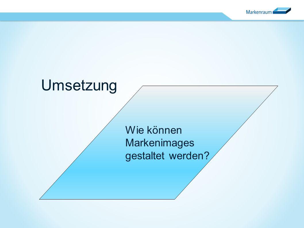Umsetzung Wie können Markenimages gestaltet werden