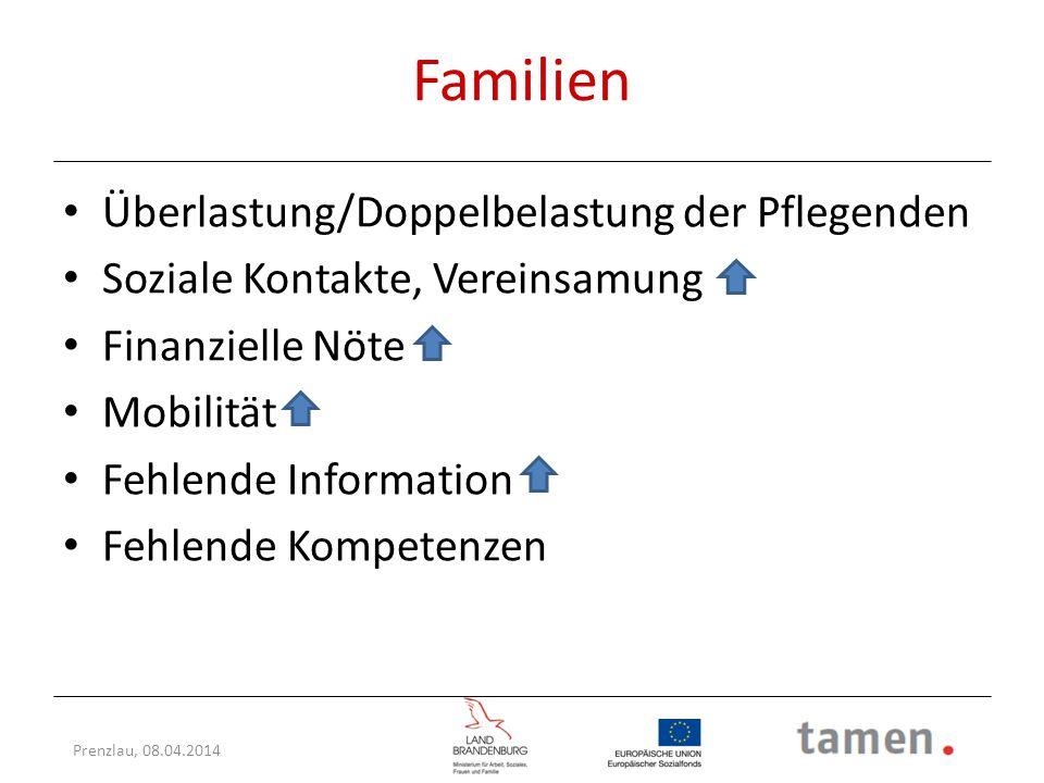 Familien Überlastung/Doppelbelastung der Pflegenden