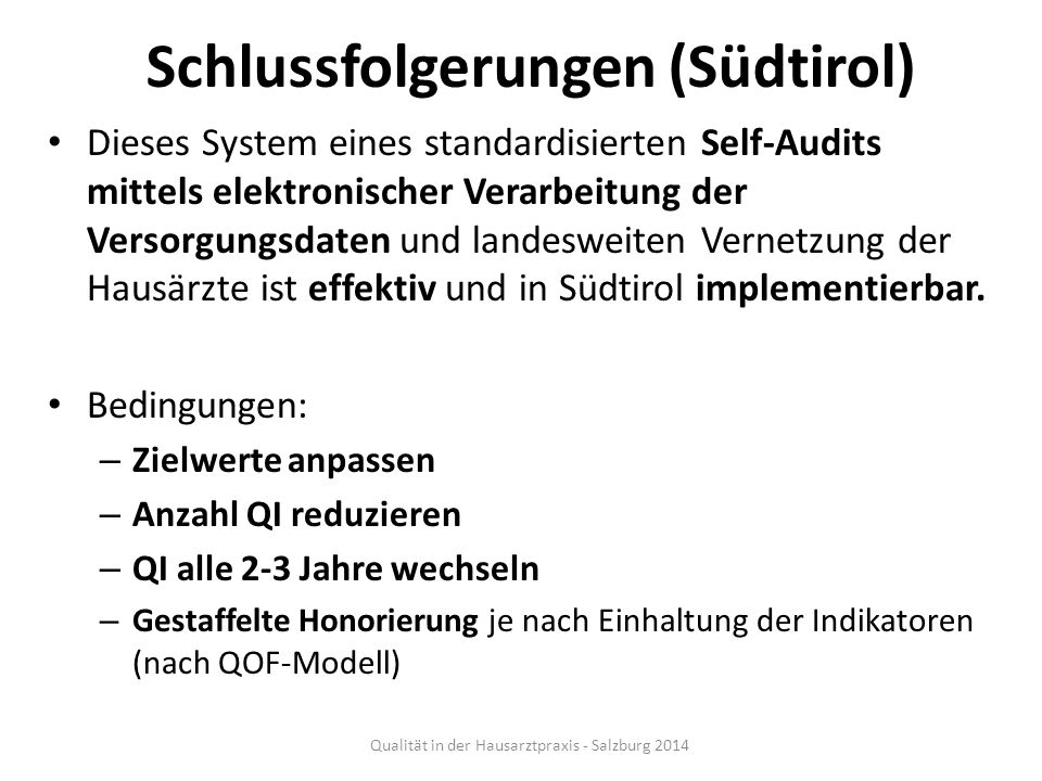 Schlussfolgerungen (Südtirol)