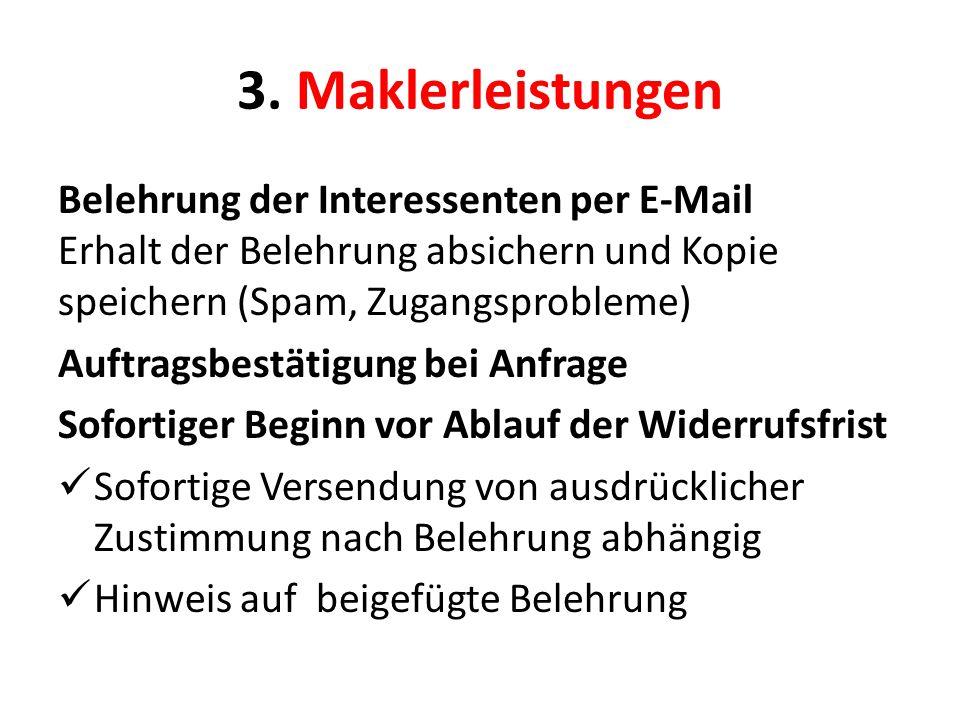 3. Maklerleistungen