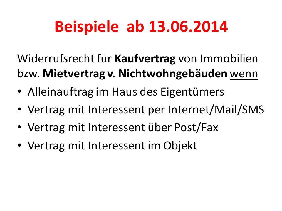 Beispiele ab 13.06.2014