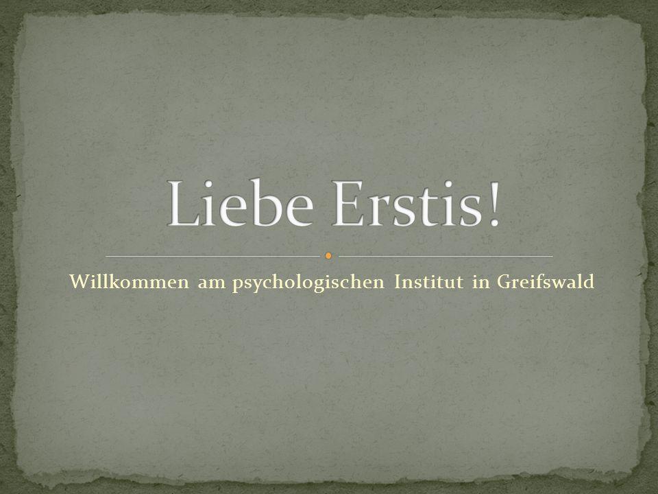 Willkommen am psychologischen Institut in Greifswald