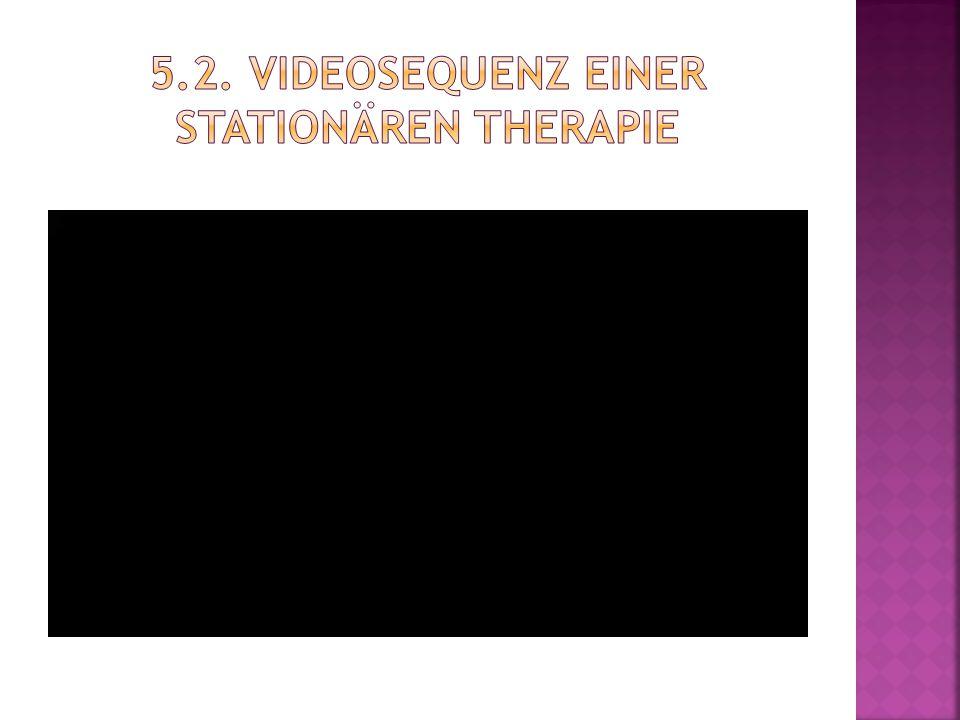 5.2. Videosequenz einer stationären Therapie