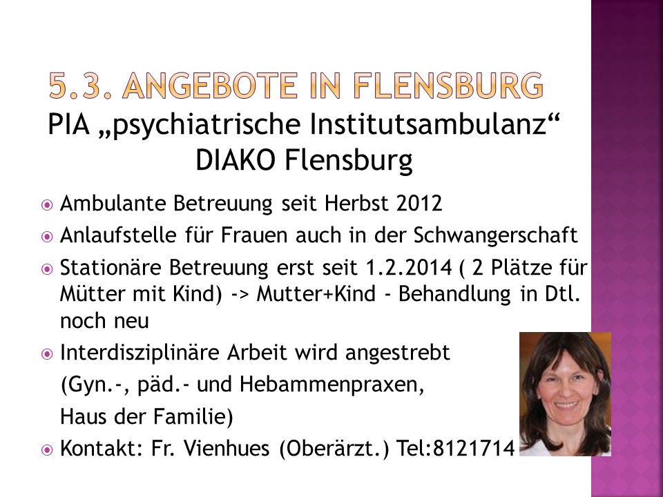 "PIA ""psychiatrische Institutsambulanz DIAKO Flensburg"