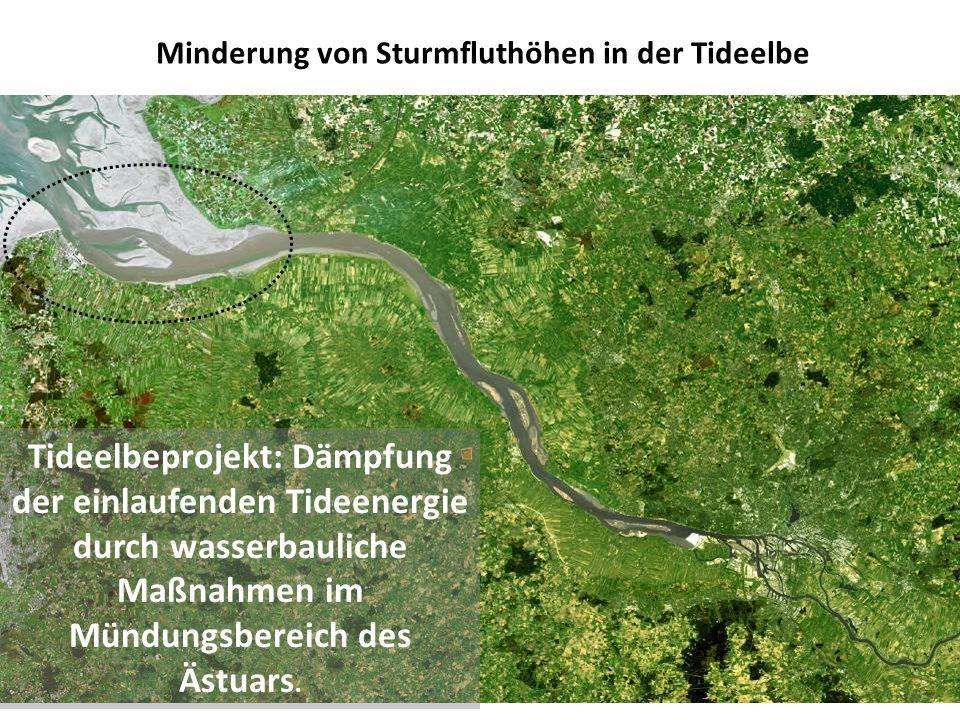 Minderung von Sturmfluthöhen in der Tideelbe