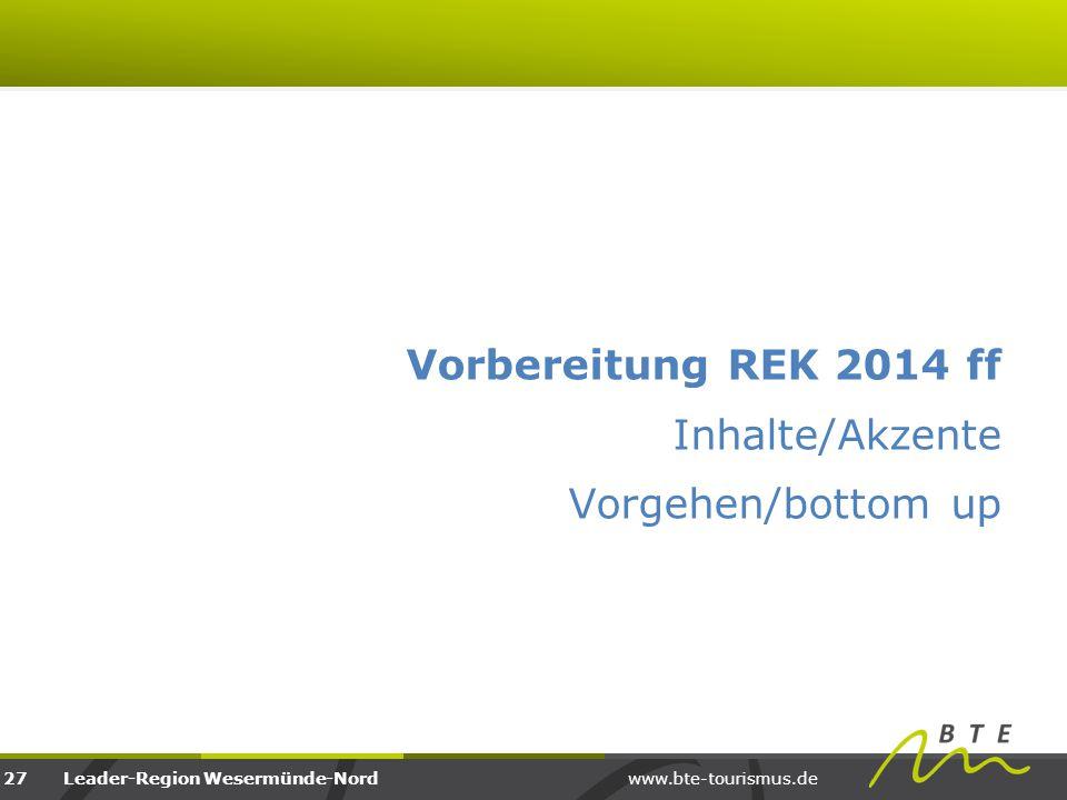 Vorbereitung REK 2014 ff Inhalte/Akzente Vorgehen/bottom up