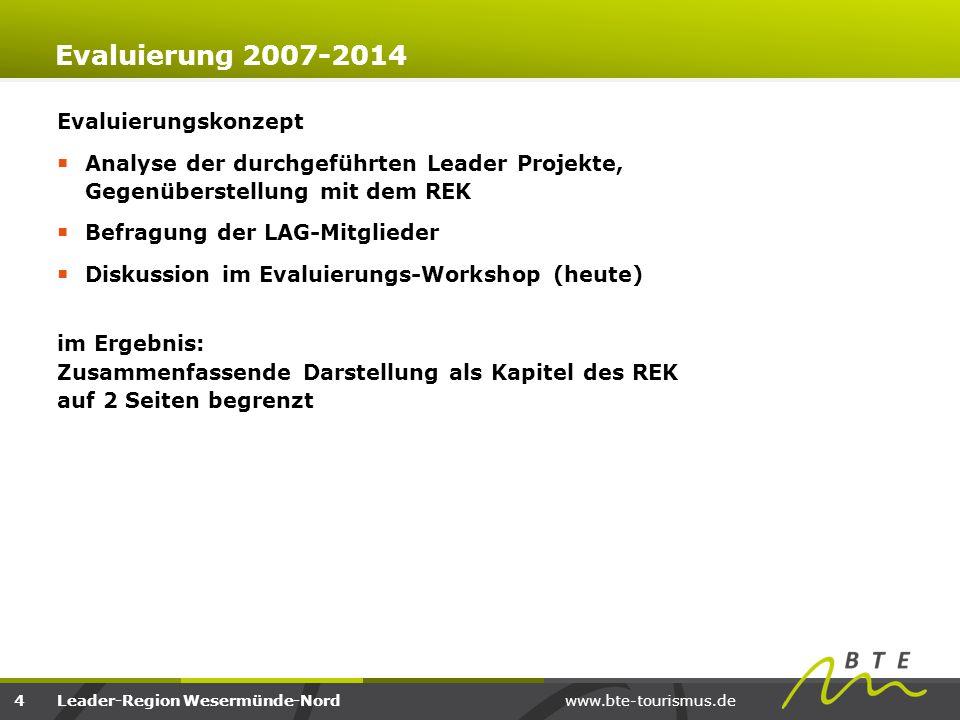 Evaluierung 2007-2014 Evaluierungskonzept